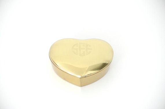 Jewelry box brass heart Valentines Day