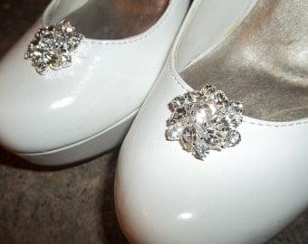 Rhinestone Shoe Clips, Bridal Shoe Clips, Wedding Shoe Clips, Crystal Shoe CLips for Wedding Shoes, Bridal SHoes, Silver Shoe Clips, Clips