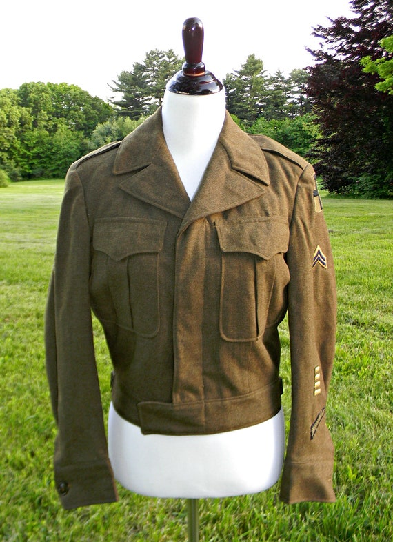 Reserved On Hold Post WW2 Eisenhower Ike Jacket Orginal Patches