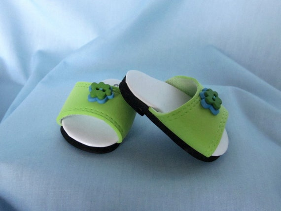 American Girl Shoes - Sandals in Green and Turquoise