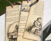 Vintage Little House on the Prairie Series Bookmarks (set of 3), Little House on the Praire, One of a Kind Bookmark, Vintage Book Pages