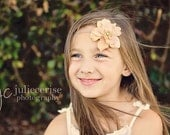 Flower with Pearl  Headband Photo Prop