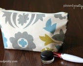 Medium Makeup and Cosmetic Bag in Suzani Summerland