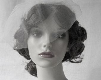 Couture birdcage veil, face veil in English tulle - Cutie