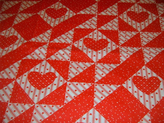 Cheater Quilt, Quilt Panels,SIX yards, Fabric, Yardage, Quilting Supplies, Sewing Supplies,Red Fabric, Blue Fabric,