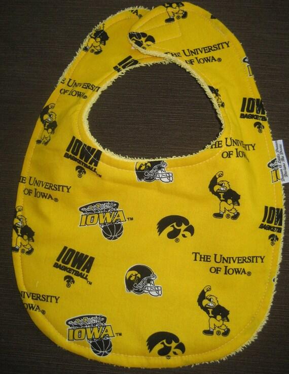 University of Iowa Hawkeyes Bib for infant boys or girls