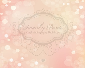 7ft x 5ft Light Pink Bokeh / Vinyl Photography Backdrop / Custom Prop