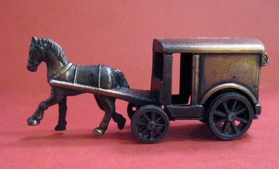 Amish Horse and Buggy Die Cast Miniature Pencil Sharpener