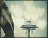 Seattle Rain Song, Space Needle, Monorail 8 x 10 Photography