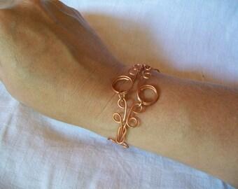 Copper Scrollwork Bracelet