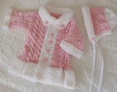 Sweets baby set in pink and withe