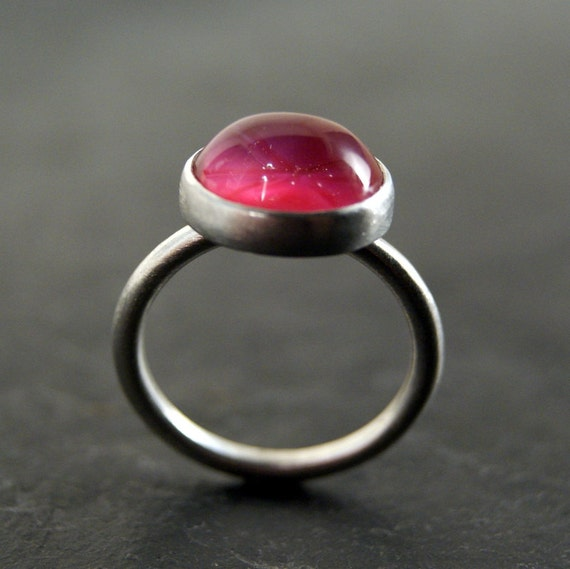 SALE / / / Star Ruby Ring in Sterling Silver