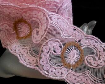 Pink Net Soft Felt Trim