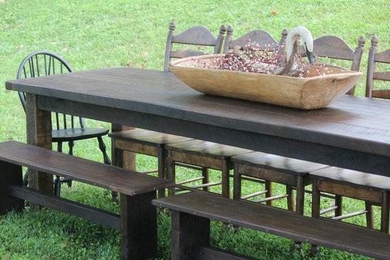 Items similar to reclaimed 10ft black walnut farm table for 10 foot farmhouse table plans