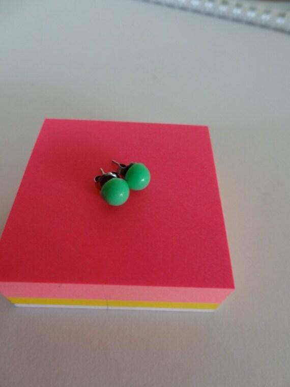 Sea Foam Green GumDrops. Stud Earrings. Studs. Tiny Studs.