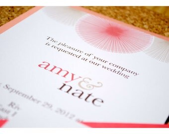 Sample Wedding Invitation Sun Burst
