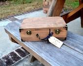 Vintage Style Keepsake Box/Suitcase with Luggage Tag