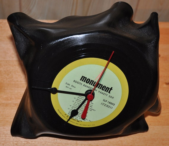 Warped Vinyl Record Clock By Lynnsplaces On Etsy