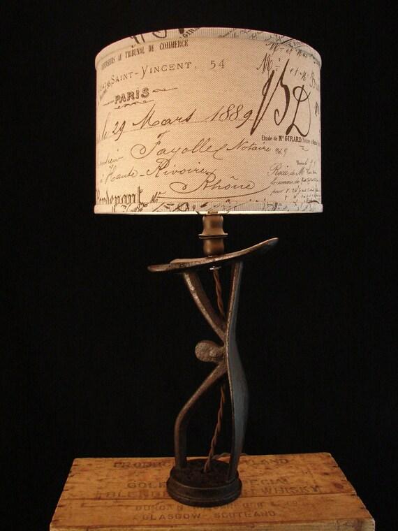 Upcycled Antique Iron Shoe Shine Stand Lamp 1