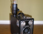Repurposed Vintage Camera Lamp