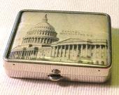 Vintage Compact Mirror Powder Compact Capitol in Washington D.C.