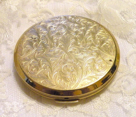 Vintage Pill Compact Stratton RX Travel Purse Compact