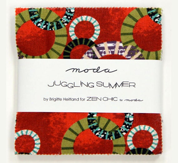 Moda - Juggling Summer Charm Pack - Zen Chic