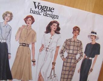 Uncut Vogue Sewing Pattern 1312 - Misses Dress -  Size 8-12