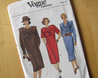 Uncut Vogue Sewing Pattern 9407 - Misses Dress  - Size 6-10