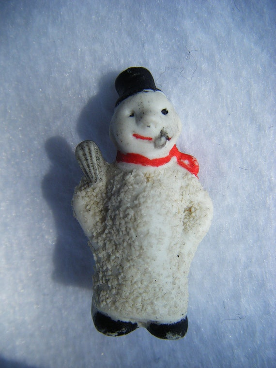 RESERVED FOR DORABELLA 1920's German Snowman Snow Baby, Tiny Antique Snowbabies