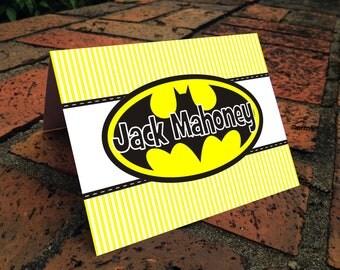 PrintableThank You Card Stationary-Batman