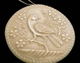 Handmade Artisanal Beeswax Ornament - Folk Art MEADOWLARK