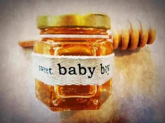 Italian Boy Name: Sweet Baby Boy Honey Baby Shower Favor Or Bris Favor