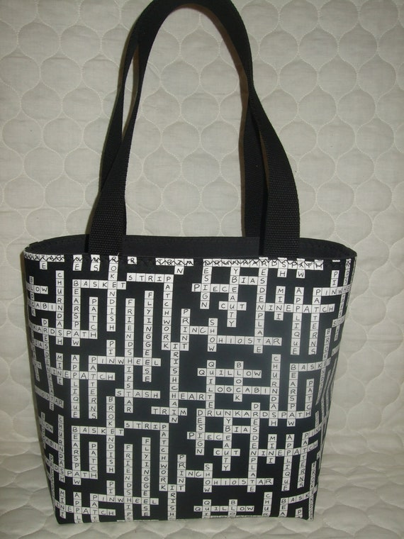 Special Order for OMIE ---- Crossword puzzle tote purse bag