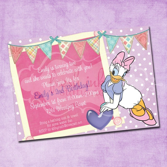 May The 4th Be With You Invitations: Daisy Duck Birthday Invitation