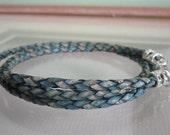Men's Antique Pacific Triple Wrap Braided Bolo Leather Bracelet
