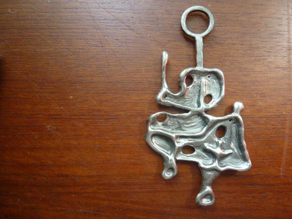 Vintage Swedish abstract pewter pendant / Gson Lindholm