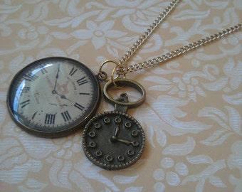 Clock Faces Necklace