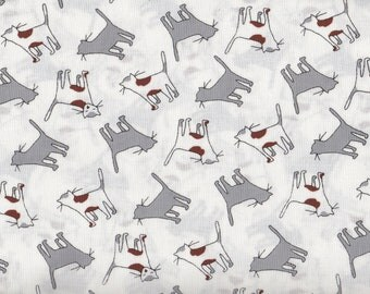 Kitty Cats by Timeless Treasures, Gray and White Cat Fabric, Kitty Fabric, Cats Fabric, 01181