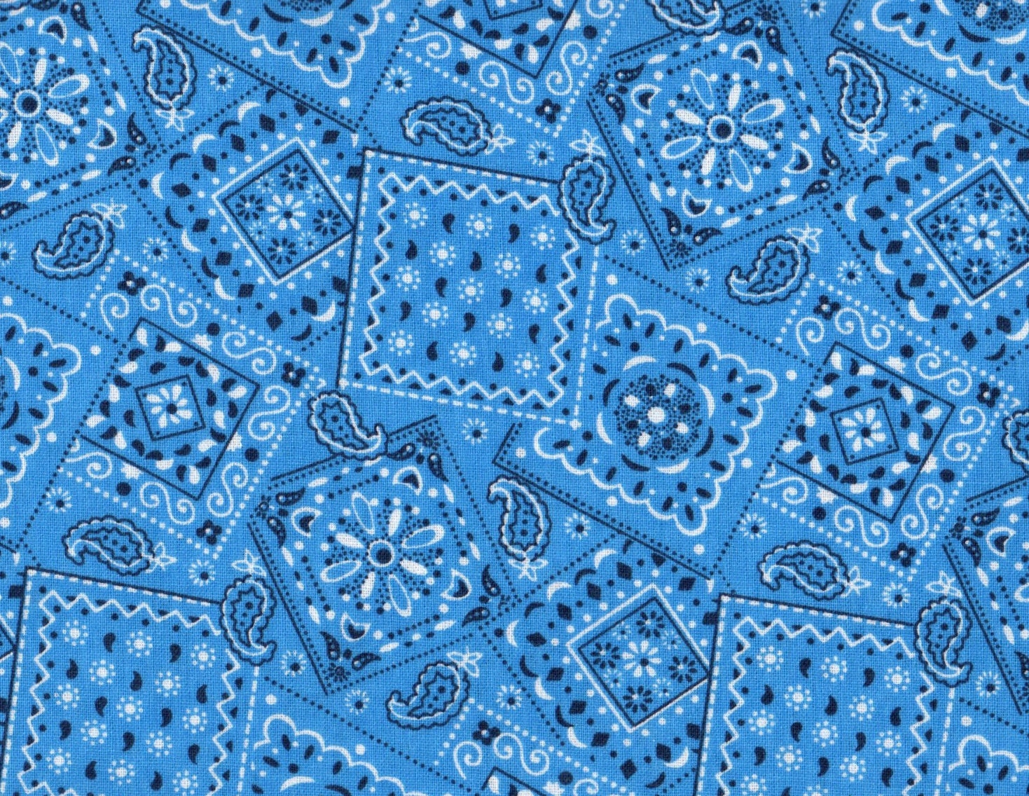 Light blue bandana fabric blue fabric by thebusybeequilting - Light blue linen wallpaper ...
