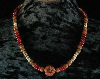 Rudraksha Mala Necklace, Rudraksha Mala Bracelet, Yoga Jewelry, Meditation Necklace, Mens Beaded Necklace, Beaded Bracelet, Tribal