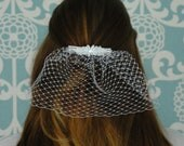Petite Bridal Veil - Jackie O Style Veil - Blusher Veil