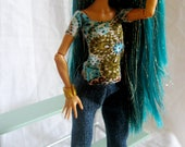 Tee Shirt and Skinny Jeans for Monster High Doll Nefera