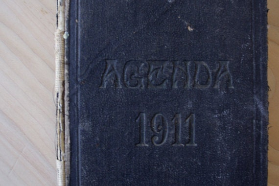 1911.Vintage FRENCH ledger // Accounts journal // Notebook // French diary