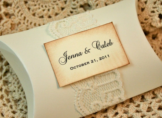 Small Gift For Wedding: Items Similar To DIY Favor Boxes