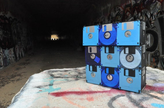 Blues Bag Floppy disk bag for the geek or nerd in your life