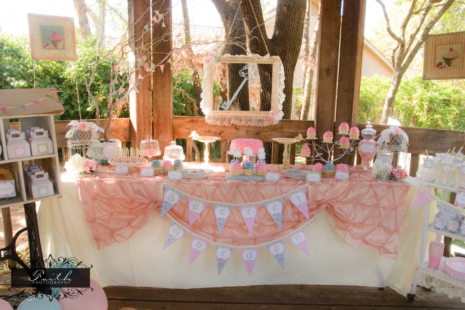 Tea party girls birthday party shabby chic by - Decoracion shabby chic vintage ...