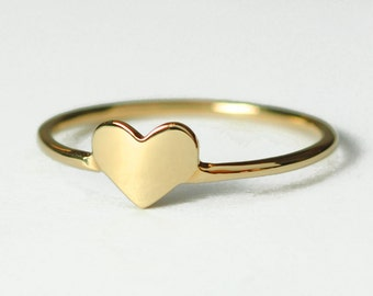 Solid 14K Gold Heart  Ring