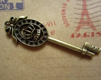 10pcs 57x15mm antique bronze key charms pendant  C3884