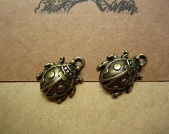 20pcs 22x17mm antique bronze ladybug  insect  charms pendant C4132